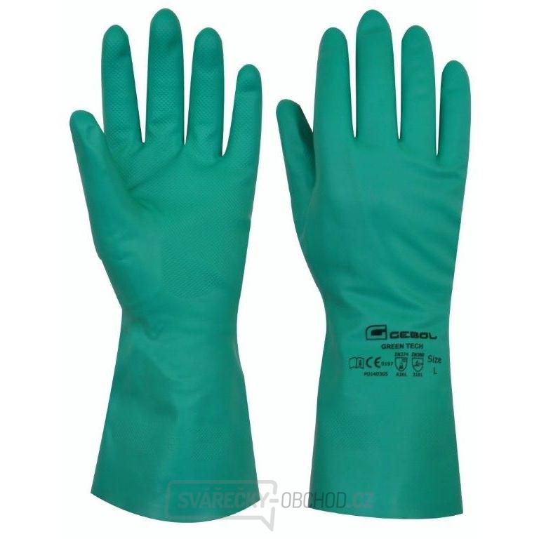 76b416109c5 Pracovní gumové rukavice Green Tech velikost XL - blistr